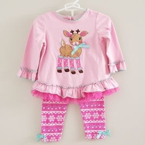 Rare Editions Girl's Winter Reindeer Outfit